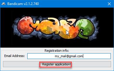 Кликаем Register application для регистрации программы